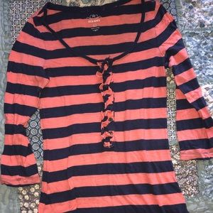 Old Navy Striped 3/4 Sleeve T